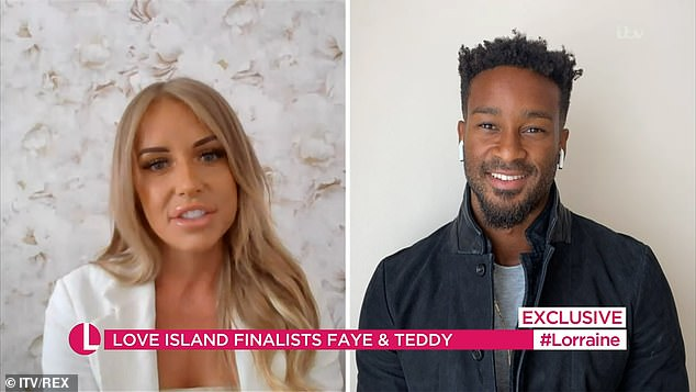 'The future is bright': Faye and Teddy revealed on This Morning that they plan to move in together