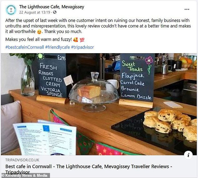 The vast majority of the cafe's customers are really lovely, they get lots of repeat business and lots of positive support, according to the owners