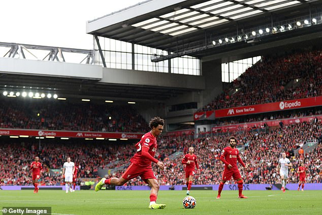 Trent Alexander-Arnold provided his first assist of the season to set up Sadio Mane