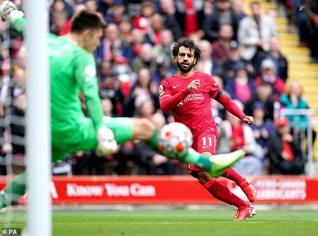 Mohamed Salah bagged his first goal of the season in Liverpool's season opener at Norwich