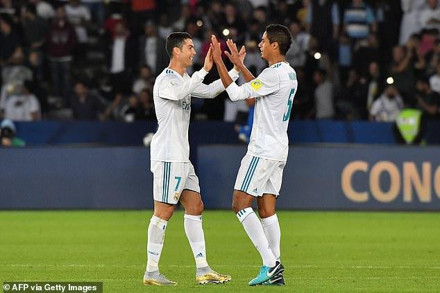 Raphael Varane and Ronaldo won four Champions League titles together at Real Madrid