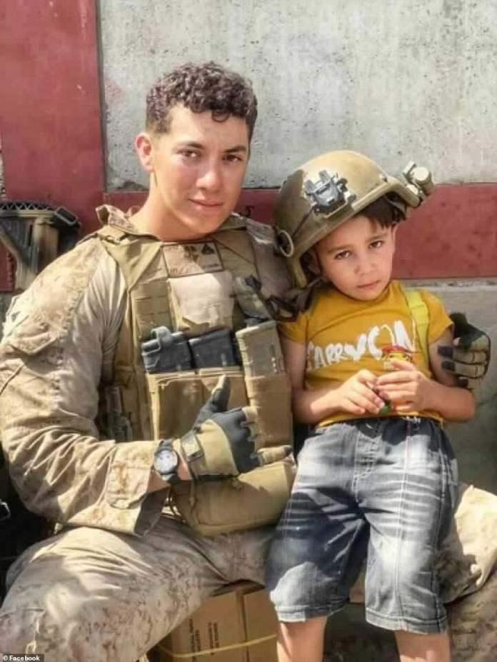 'I am unbelievably saddened and heartbroken for the Lopez family as they grieve over the loss of their American Hero,' Bianco wrote of Hunter Lopez (above)