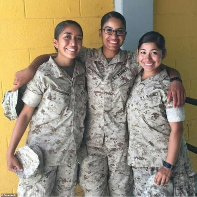 Rosario (center) was a Marine sergeant from Lawrence, Massachusetts with the Naval Amphibious Force, Task Force 51/5th Marine Expeditionary Brigade