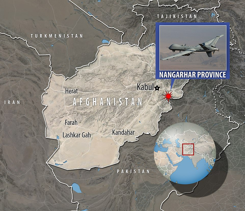 The Pentagon said a US drone mission in eastern Afghanistan killed two members of the so-called Islamic State group's Afghanistan affiliate early on Saturday in retaliation for the airport bombing, and Mr Biden said the extremists can expect more
