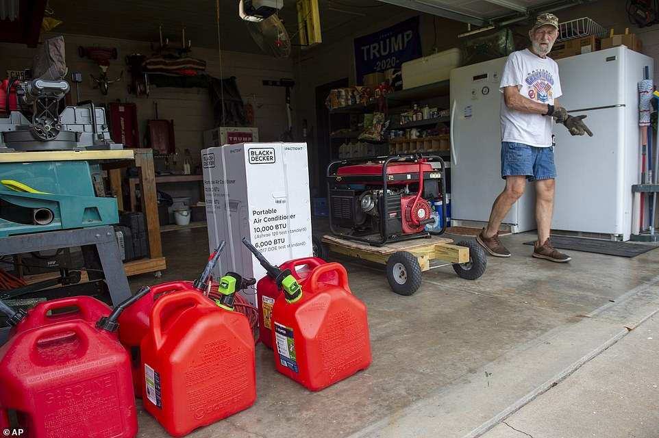 A Morgan City man got extra gas tanks, portable air conditioners and multiple generators in preparation for the approaching storm