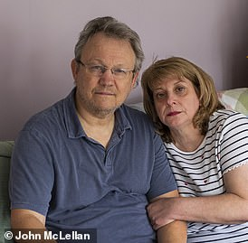 Taxi driver Peter King and his wife Lisa