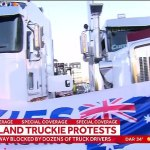 Furious truckies block a major Brisbane highway in a protest rally 💥👩💥