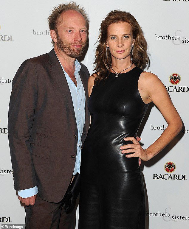 Big spenders: Rachel Griffiths and her husband Andy Taylor are leaving Melbourne. The couple (pictured in 2010) have purchased a 'designer terrace' in inner Sydney for more than $2million