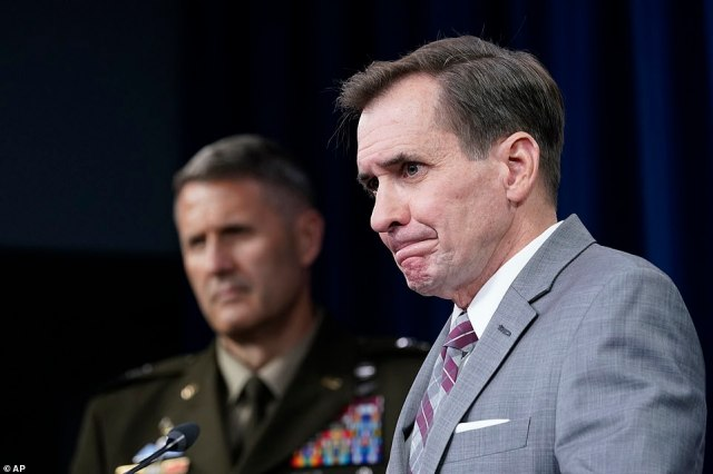 'They lost a planner and they lost a facilitator and got one wounded. The fact that two of these individuals are no longer walking on the face of the Earth, that's a good thing,' said Pentagon spokesman John Kirby