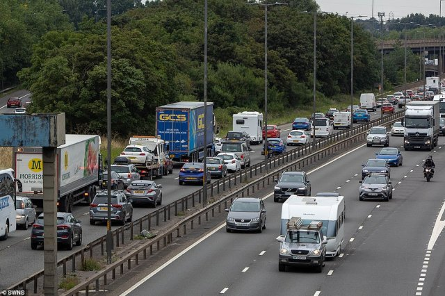 The motoring association said that large festival events taking place over the weekend coupled with restrictions on overseas travel will create a 'perfect storm' of congestion on the roads