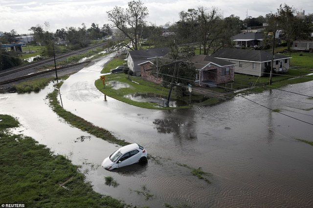 Much of Louisiana was flooded in the aftermath as levees failed or were overpowered