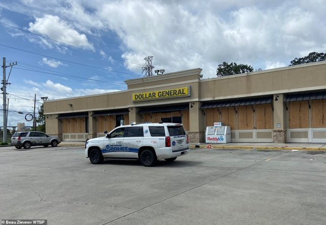 At least one person was taken into custody for looting the Dollar General in New Orleans East