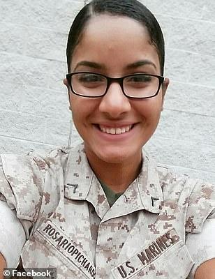 Marine Sargeant Johanny Rosario, 25, of Lawrence Massachusetts