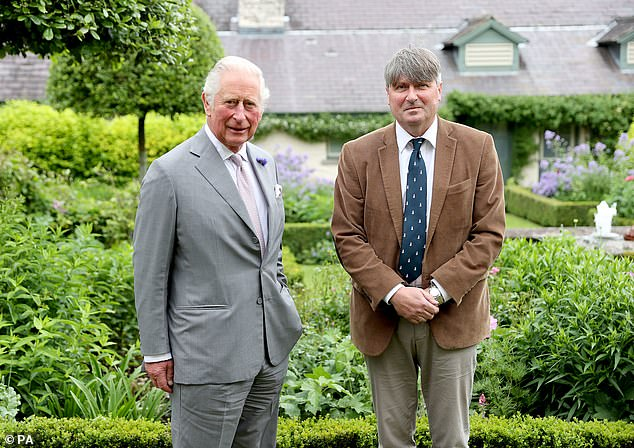 Prince of Wales with Poet Laureate, Simon Armitage, during a meeting at his Welsh home in Myddfai, Wales
