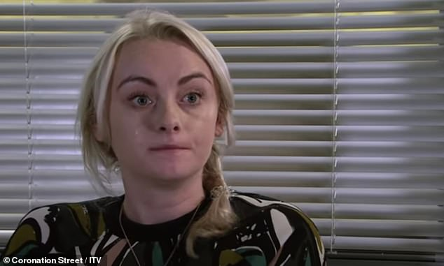 Talented: She played Sinead Osbourne in Coronation Street before jumping ship to Hollyoaks (pictured in character)