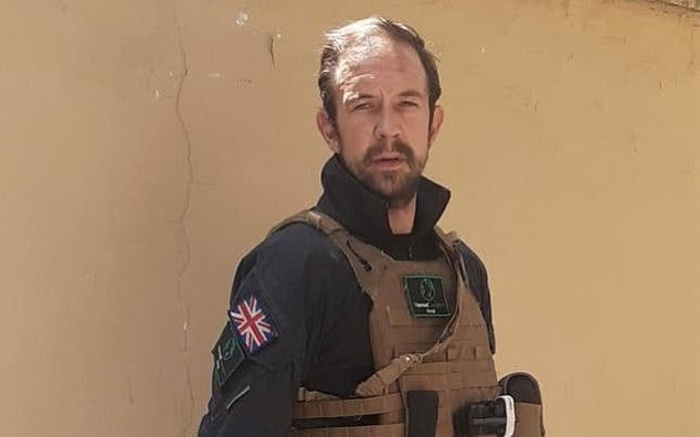 Ben Slater (pictured), an ex-soldier who served with the British Armed Forces, has plotted an escape route over Taliban controlled borders in a bid to get himself and 400 Afghans to safety
