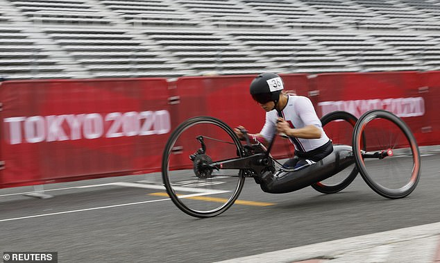Oksana Masters, 32, dominated the field to win gold in the hand cycling women's time trial