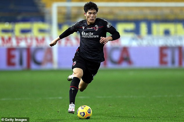 Takehiro Tomiyasu has had a medical ahead of an initial £16m move to Arsenal from Bologna