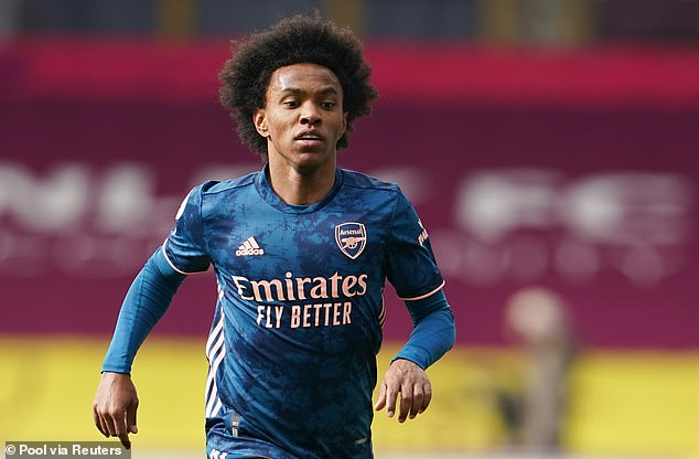 Willian scored just one goal in 37 appearances for Arsenal across all competitions