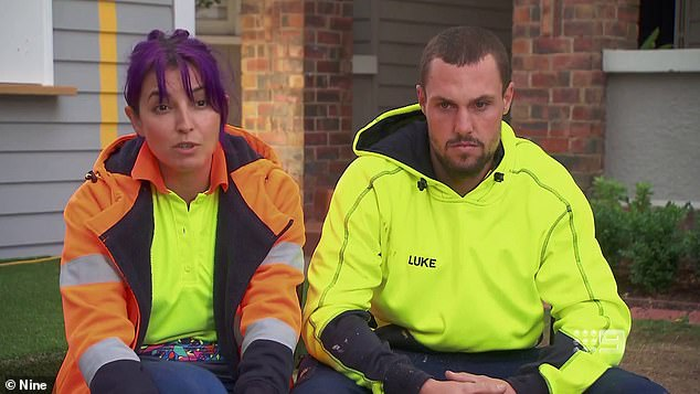 The Block cheating scandal: Tanya Guccione revealed an 'ex-tradie' sent her the photo of the show's production schedule. Pictured with co-star Luke Packham