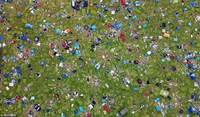 The Association of Independent Festivals estimates 250,000 tents are left behind at festivals across the UK, the majority of which end up in landfill