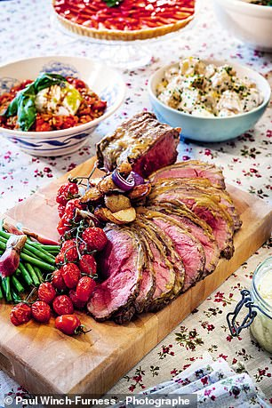 Roast beef salad with homemade horseradish (pictured) is best served with the sauce on the side
