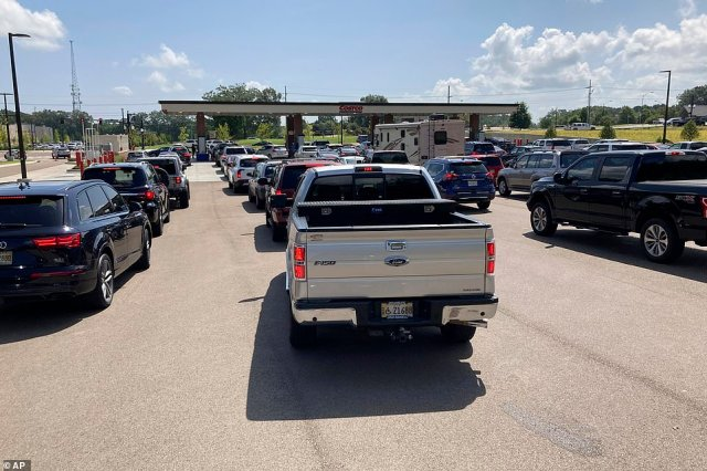 Before Ida even made landfall, there was a rush on gas stations. By the weekend, almost 10 percent of gas stations in New Orleans and Baton Rouge were reportedly running dry. Cars are seen lining up for hours to get gas in Mississippi on Saturday