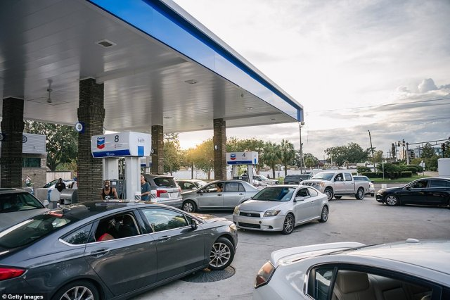 Pandemonium at the pump:Hurricane Ida is set to cause a nationwide surge in fuel prices after Hurricane Ida forced the closure of almost 95 percent of oil and gas refineries along the Gulf Coast. Cars are pictured lining up at a New Orleans gas station on Monday