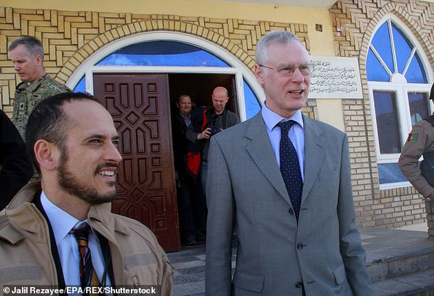 Boris Johnson's special representative for Afghan transition, Simon Gass (pictured), entered talks with senior Taliban leaders