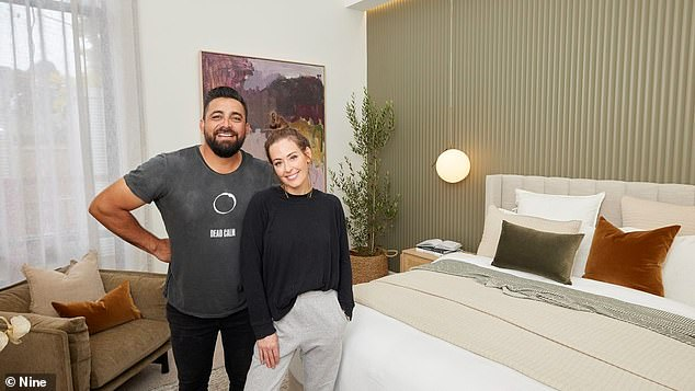 Sky's the limit: The other returning faves, Ronnie and Georgia, have designed a bedroom with astounding 6m high ceilings