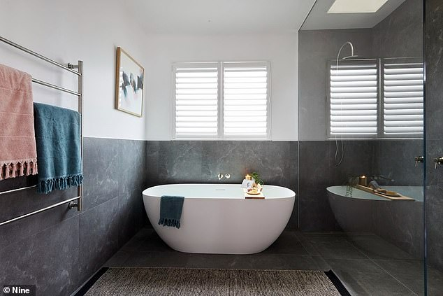 Twin bathroom: Twin brothers Josh and Luke, have a price guide of $2.6million to $2.8million for their house