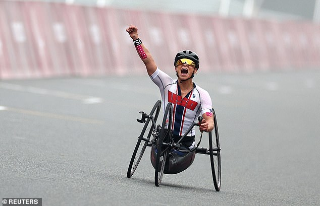 The 32-year-old dominated the field to win the gold medal in the women's H5 road race