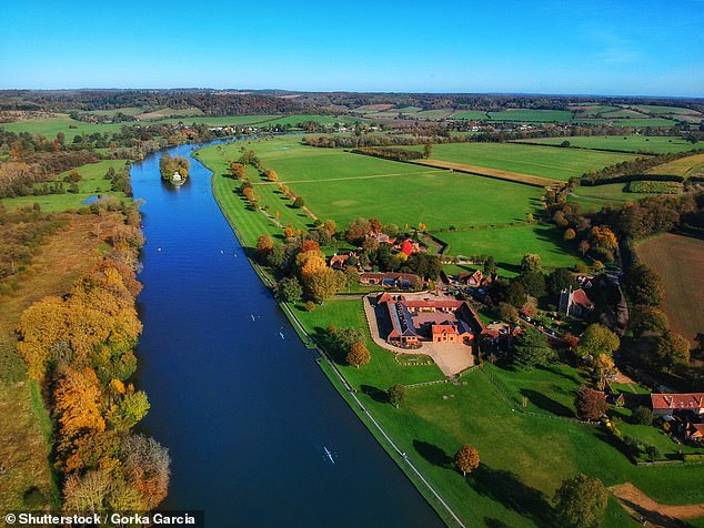 Pictured is a view of the Thames in Henley, where Ed saw rowing eights travelling down the river