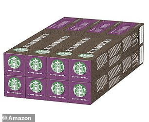 Starbucks Caffè Verona by Nespresso Dark Roast Coffee Pods (Pack of 8, Total 80 Capsules)