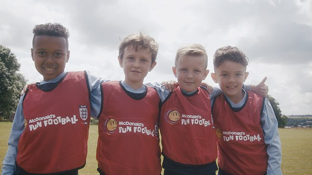 Young kids are able to come and play at Wembley as part of McDonalds Fun Football sessions
