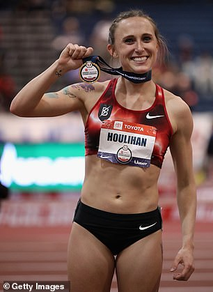 Houlihan, a former Arizona State star and a 12-time Division I All-American, claims she even passed a lie detector test