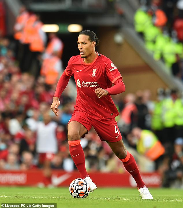 Van Dijk will be delighted he was able to play on - having only just returned from a long-term injury he sustained playing for Liverpool last season