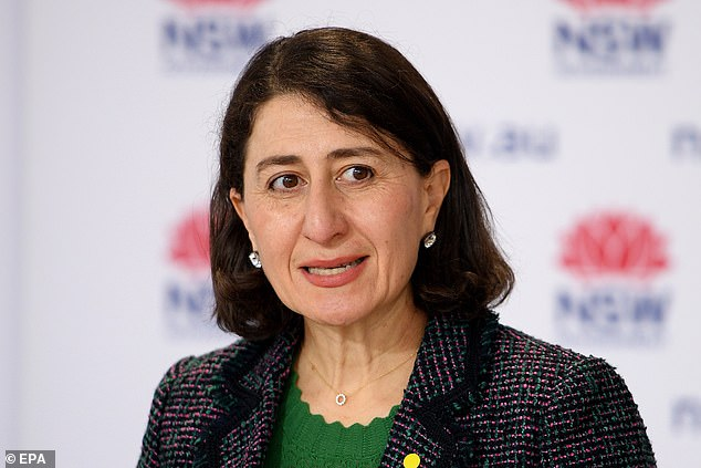 Ms Berejiklian confirmed the state had hit 70 per cent of first dose vaccinations