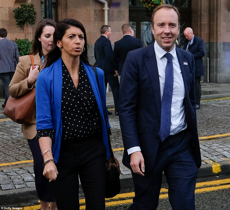 Former health secretary Matt Hancock has been enjoying a romantic break in the Swiss Alps with his loverGina Coladangelo