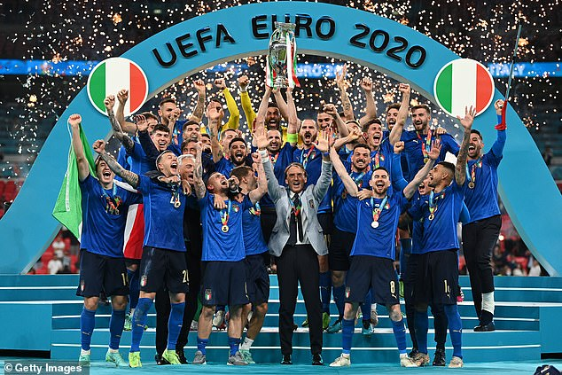 The final, which saw England defeated by Italy, attracted 328 million viewers