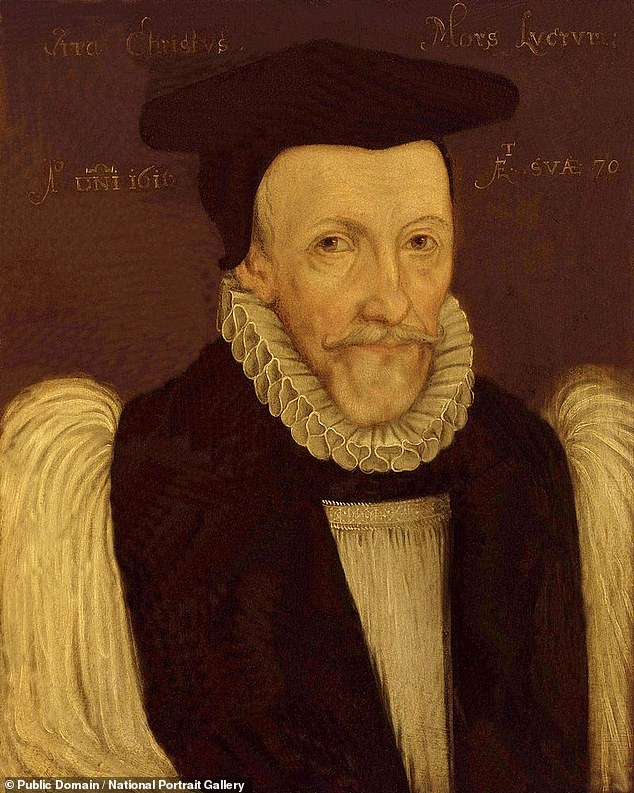 The researchers suspect that the Gerson volumes containing the fragments were transported to Bristol by Tobias Matthew (pictured) the archbishop of York between 1606 and 1628