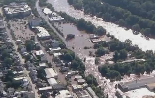 Bridgeport, Pennsylvania, on Thursday morning as the region woke up to catastrophic floods brought on by Ida