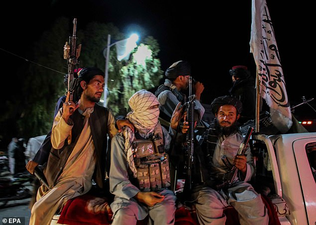 The Islamist militia (forces pictured in Kandahar) captured Kabul and brought a chaotic end to 20 years of war last month, with the Taliban now back in control of the country