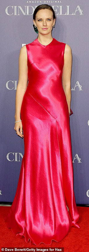 Ethereal: Charlotte Carroll was a vision in a hot pink gown, having tied her luscious walnut tresses into a side parting