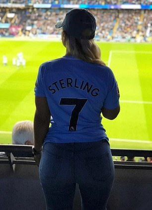 Gregg had been to watch Sterling play for Manchester City (above, May 2018)