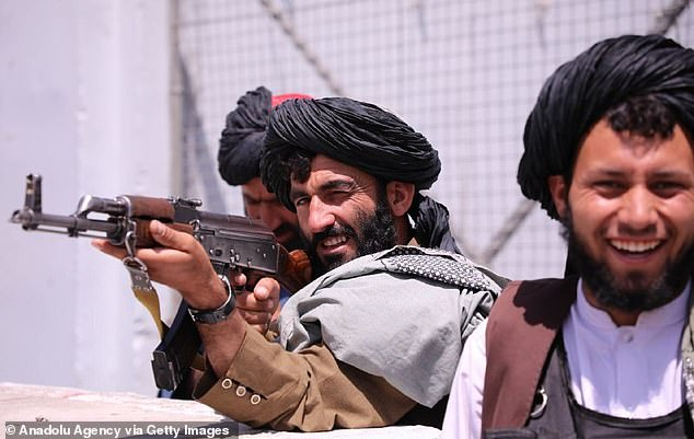 The EU is planning a 5,000 strong 'rapid response' reaction force for military interventions in the wake of the chaotic evacuation of Afghanistan. Pictured: Taliban fighters in Kabul