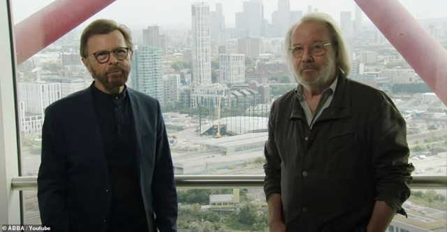 I can still recall...: Björn Ulvaeus, 76, and Benny Andersson, 74, arrived in London to make the announcement