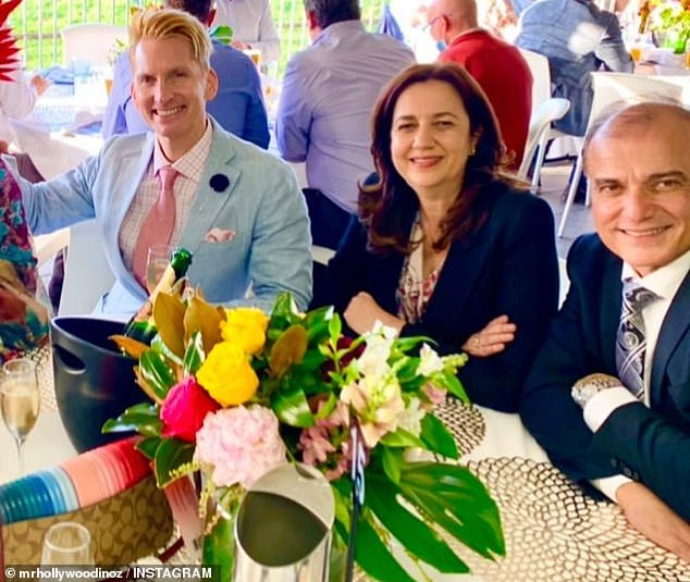 Ms Palaszczuk is pictured with Dr Adib at the Caloundra Cup on July 11, with the images fuelling speculation the pair were romantically linked - a fact the premier confirmed on Friday
