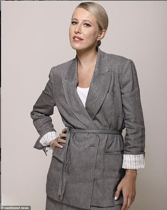 Prominent TV journalist and former Russian presidential candidate Ksenia Sobchak told her followers: 'All parents are standing up for the paedophile's killer.'