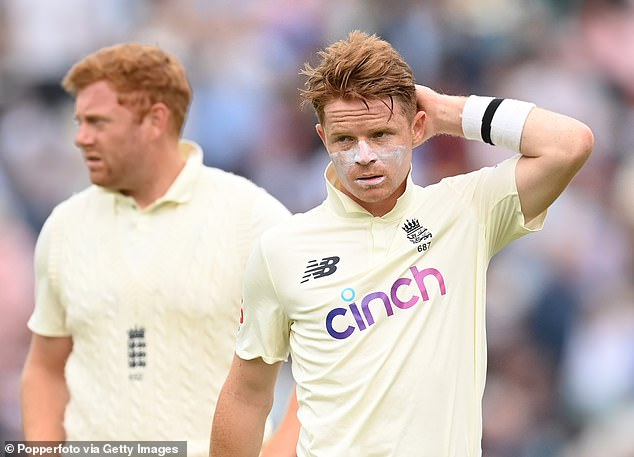 Bairstow and Ollie Pope (right) came in with England in trouble but they steadied the ship well